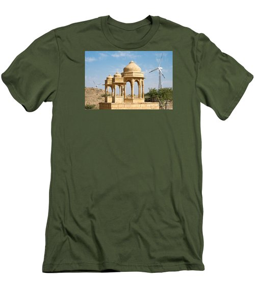 Men's T-Shirt (Athletic Fit) featuring the photograph Bada Bagh And Windmill by Yew Kwang
