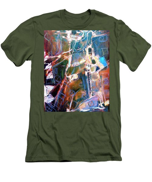Men's T-Shirt (Slim Fit) featuring the painting Badlands 1 by Dominic Piperata