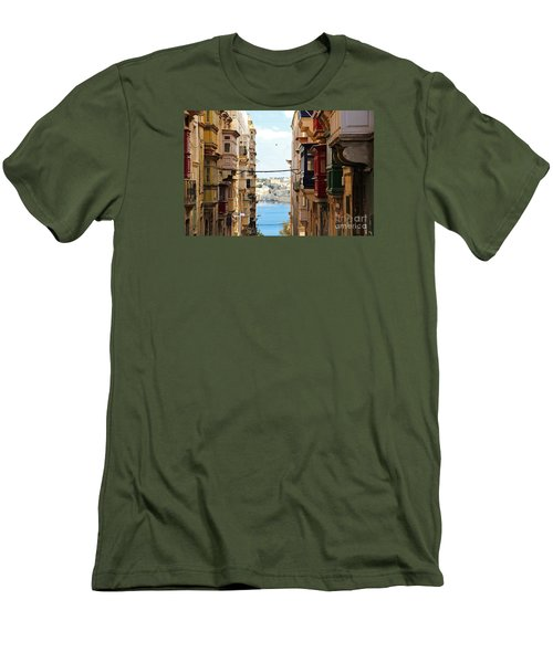 Balconies Of Valletta 2 Men's T-Shirt (Athletic Fit)