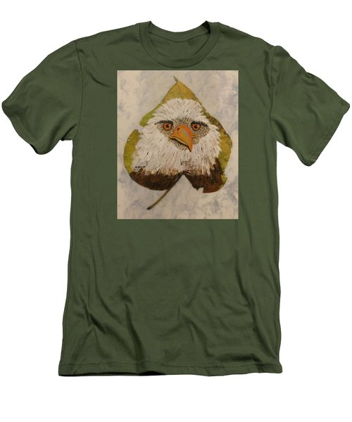 Bald Eagle Front View Men's T-Shirt (Slim Fit) by Ralph Root