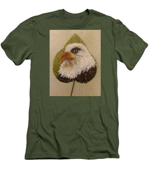 Bald Eagle Side Veiw Men's T-Shirt (Slim Fit) by Ralph Root