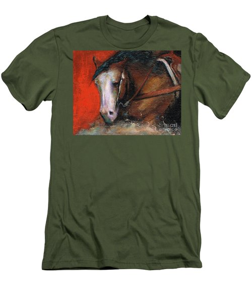 Men's T-Shirt (Slim Fit) featuring the painting Bald Face by Frances Marino
