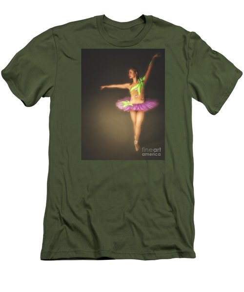 Men's T-Shirt (Slim Fit) featuring the photograph Ballerina  ... by Chuck Caramella