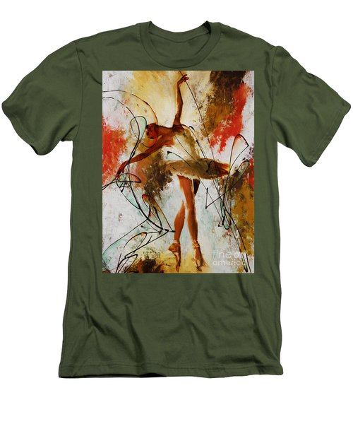Ballerina Dance Original Painting 01 Men's T-Shirt (Slim Fit) by Gull G