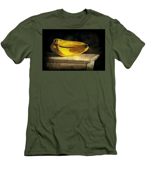 Men's T-Shirt (Slim Fit) featuring the photograph Bananas Pedestal by Diana Angstadt