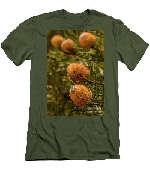 Men's T-Shirt (Slim Fit) featuring the photograph Banksia by Werner Padarin