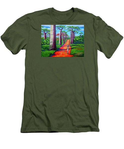 Men's T-Shirt (Slim Fit) featuring the painting Baobab by Viktor Lazarev