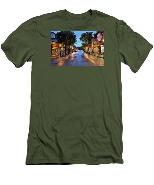 Bar Harbor - Main Street Men's T-Shirt (Slim Fit) by Brendan Reals