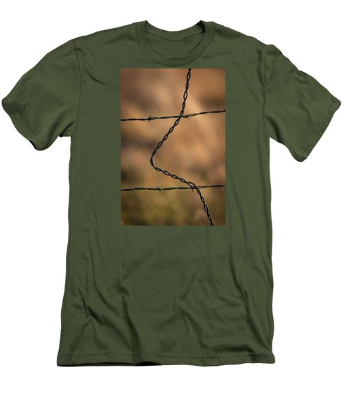 Barbed And Bent Fence Men's T-Shirt (Athletic Fit)