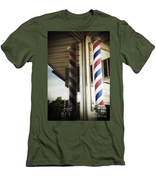 Barbershop Pole Men's T-Shirt (Athletic Fit)