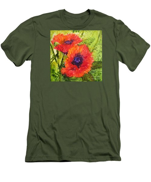 Barbs Poppies Men's T-Shirt (Athletic Fit)