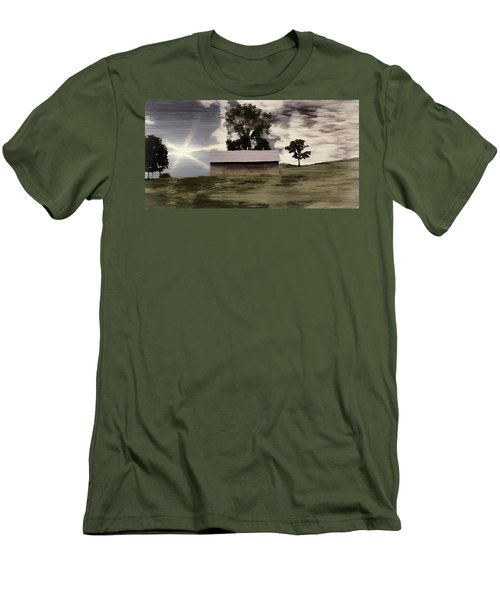 Barn II A Digital Painting Men's T-Shirt (Athletic Fit)