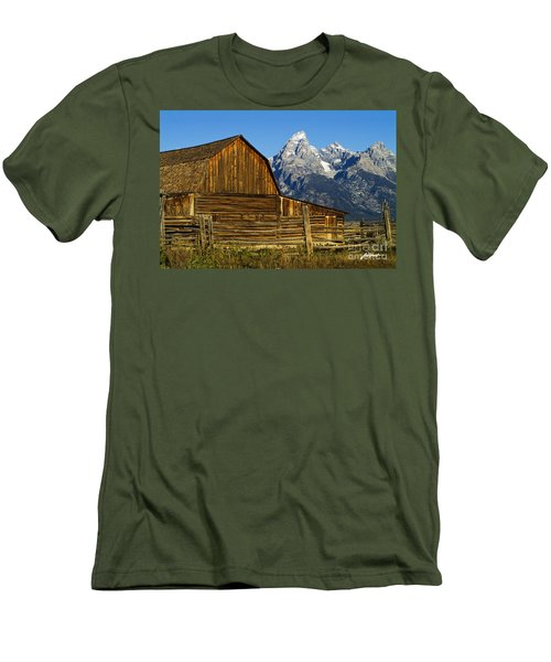 Barn On Mormon Row Men's T-Shirt (Athletic Fit)