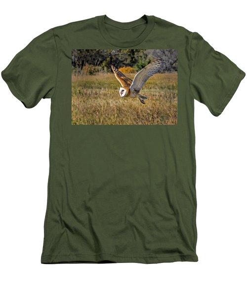 Barn Owl Flight 6 Men's T-Shirt (Athletic Fit)