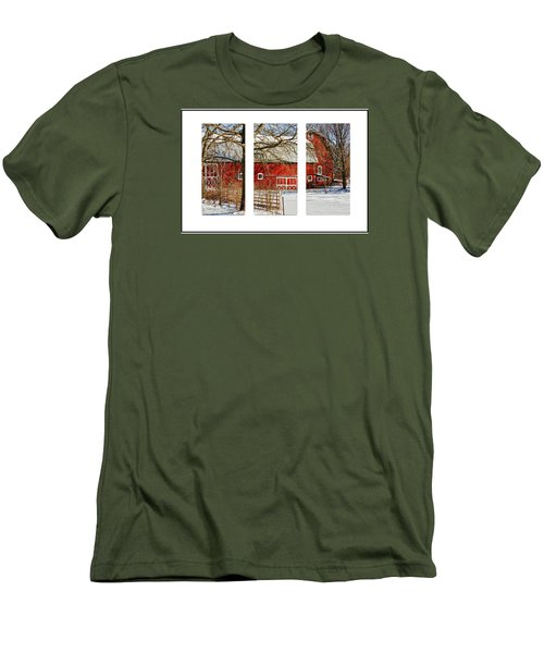 Barn Triptych Men's T-Shirt (Slim Fit) by Pat Cook