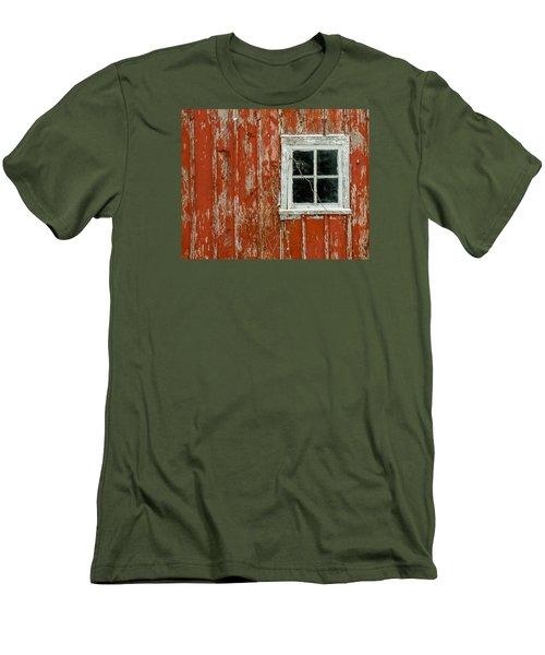Men's T-Shirt (Slim Fit) featuring the photograph Barn Window by Dan Traun