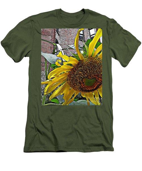 Barrio Sunflower 3 Men's T-Shirt (Slim Fit) by Sarah Loft