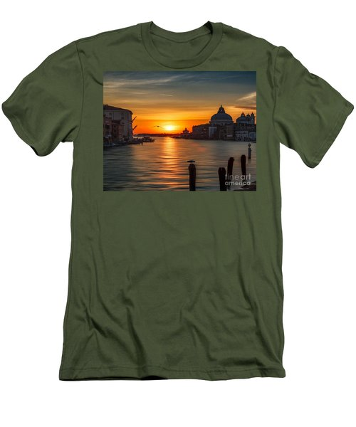 Basilica Di Santa Maria Dela Salute, Venice Men's T-Shirt (Slim Fit) by Rod Jellison