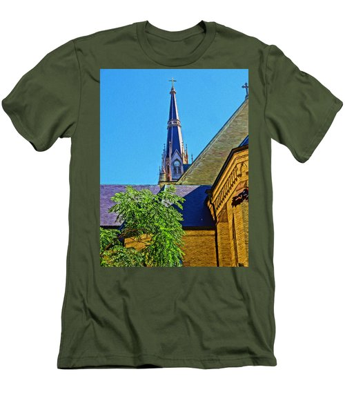 Basilica Of The Sacred Heart Notre Dame Men's T-Shirt (Slim Fit) by Dan Sproul