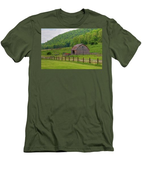Men's T-Shirt (Slim Fit) featuring the photograph Bath Barn 0428a by Guy Whiteley
