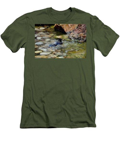 Men's T-Shirt (Slim Fit) featuring the photograph Bath Time by John Black