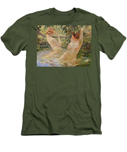 Bathers Men's T-Shirt (Slim Fit) by Pierre Van Dijk