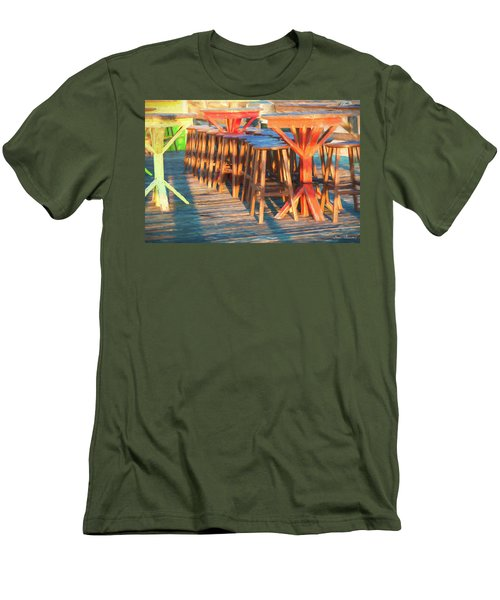 Beach Bar Morning Men's T-Shirt (Slim Fit) by Glenn Gemmell