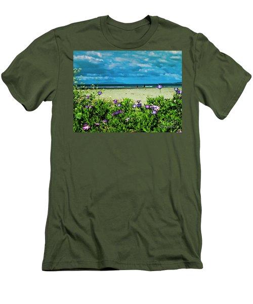 Beach Daisies Men's T-Shirt (Slim Fit) by Karen Lewis