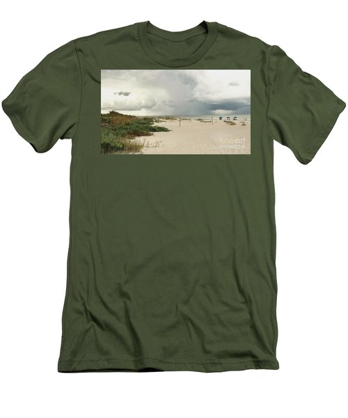 Men's T-Shirt (Slim Fit) featuring the photograph Beach Day by Raymond Earley