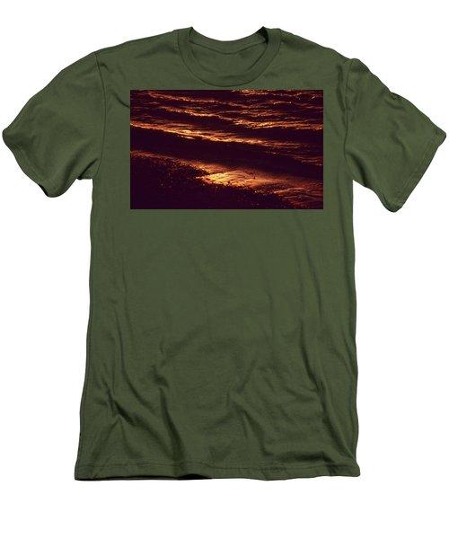 Beach Fire Men's T-Shirt (Slim Fit) by Laurie Stewart