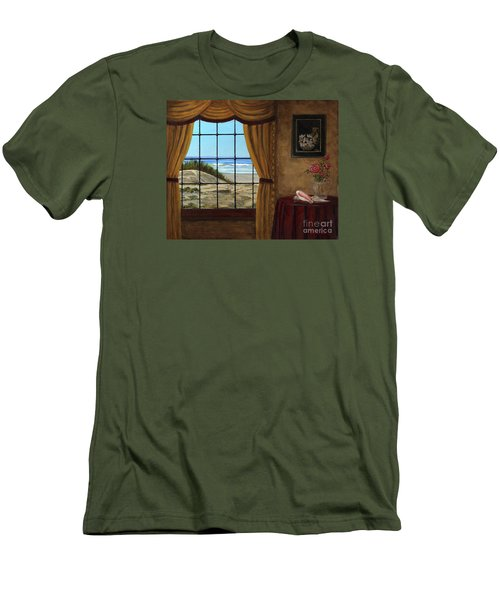 Beach Longing Men's T-Shirt (Athletic Fit)
