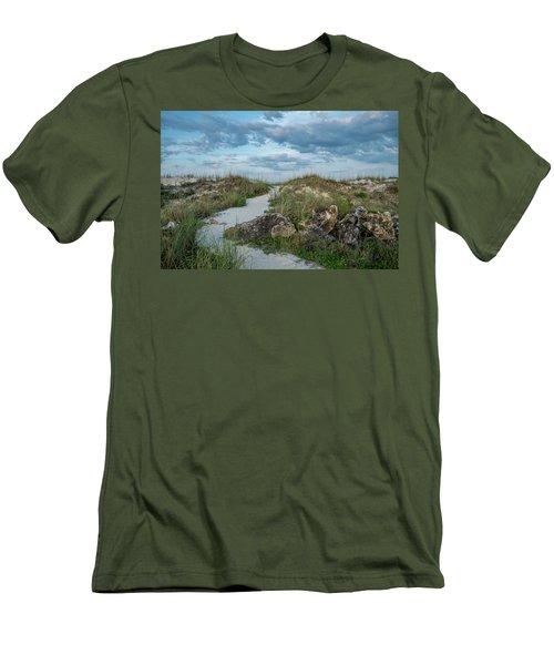Men's T-Shirt (Slim Fit) featuring the photograph Beach Path by Louis Ferreira
