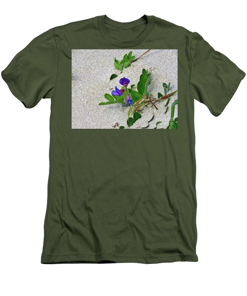 Beach Pea Vine Men's T-Shirt (Athletic Fit)