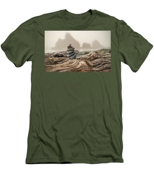 Beach Stack Men's T-Shirt (Slim Fit) by Kristopher Schoenleber