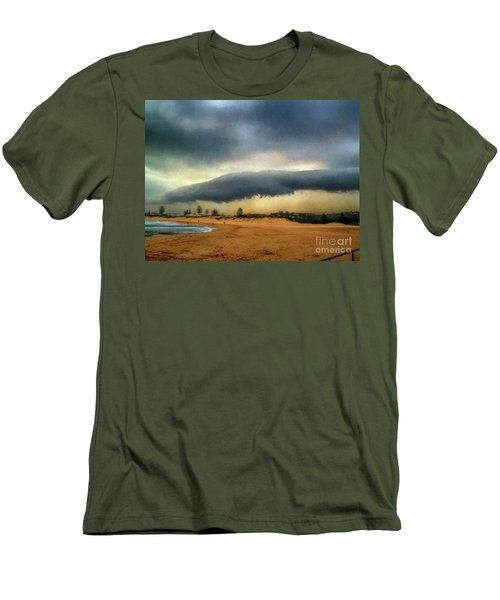 Men's T-Shirt (Athletic Fit) featuring the photograph Beach Storm At Sunset By Kaye Menner by Kaye Menner