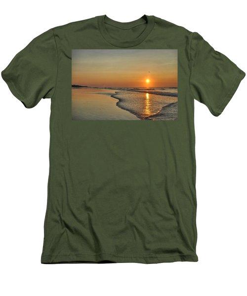 Topsail Nc Beach Sunrise Men's T-Shirt (Athletic Fit)