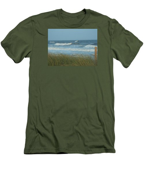 Men's T-Shirt (Slim Fit) featuring the photograph Beach Time by Jake Hartz
