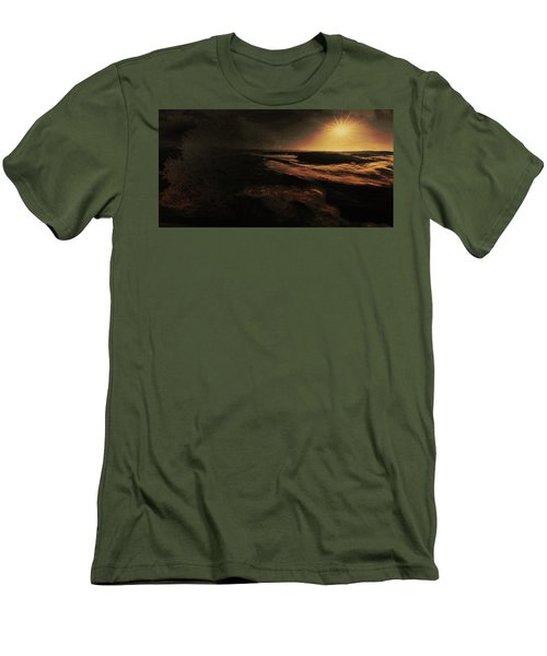 Beach Tree Men's T-Shirt (Athletic Fit)