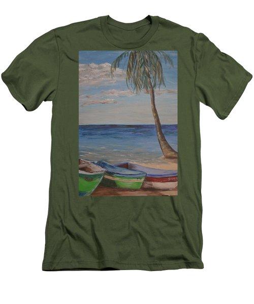 Beached Men's T-Shirt (Slim Fit) by Debbie Baker
