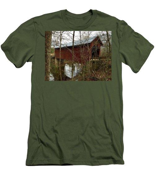 Bean Blossom Bridge Men's T-Shirt (Athletic Fit)