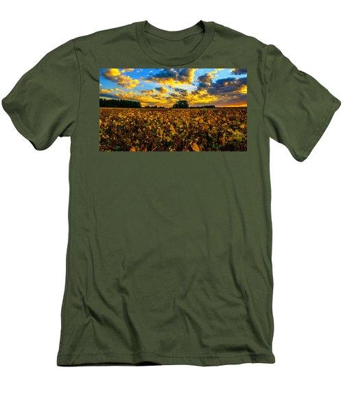 Bean Field Splendor  Men's T-Shirt (Slim Fit) by John Harding