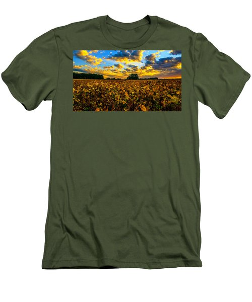 Bean Field Splendor  Men's T-Shirt (Athletic Fit)
