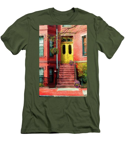 Beantown Brownstone With Yellow Doors Men's T-Shirt (Athletic Fit)