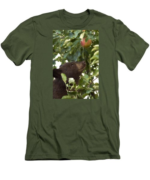 Bear Cub In Apple Tree4 Men's T-Shirt (Athletic Fit)