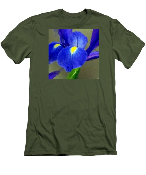 Bearded Iris Men's T-Shirt (Slim Fit) by Anthony Fishburne