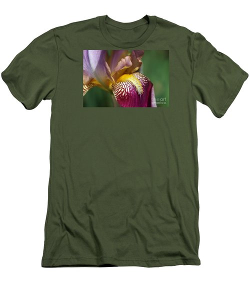 Bearded Iris Flower Mary Todd Men's T-Shirt (Slim Fit) by Joy Watson