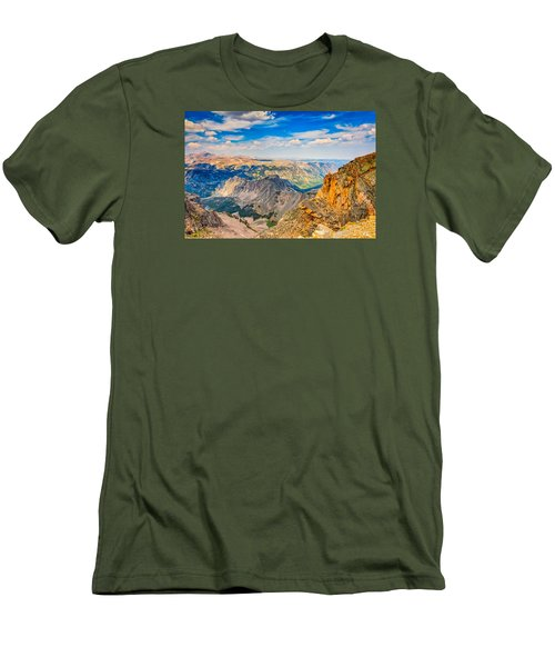 Men's T-Shirt (Slim Fit) featuring the photograph Beartooth Highway Scenic View by John M Bailey