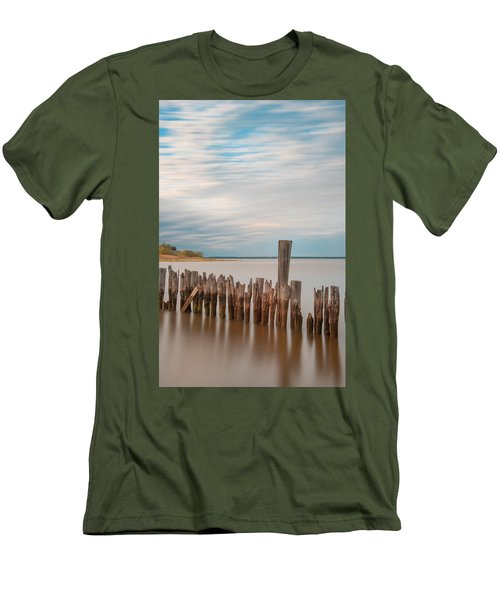Beautiful Aging Pilings In Keyport Men's T-Shirt (Athletic Fit)