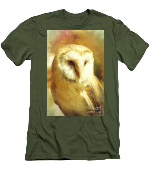 Beautiful Barn Owl Men's T-Shirt (Slim Fit) by Tina LeCour