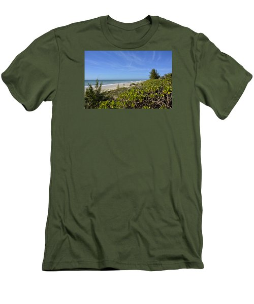 Beautiful Beachy Afternoon Men's T-Shirt (Slim Fit) by Carol Bradley